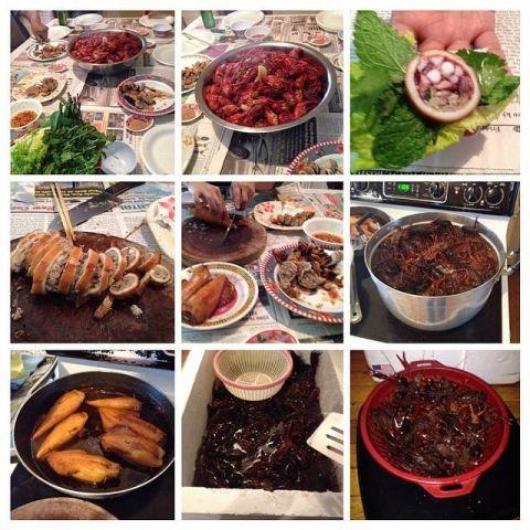Squid And Crawfish Dinner